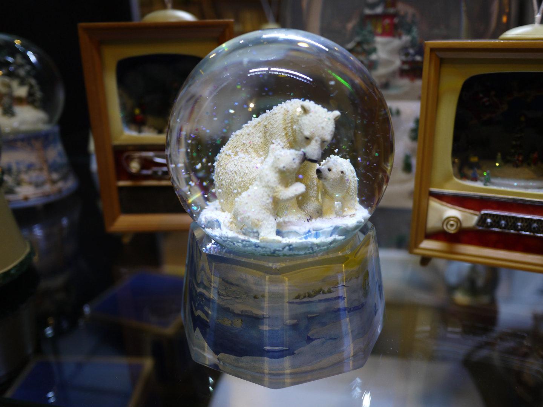 Bola de cristal con ositos polares - Bola nieve cristal ...