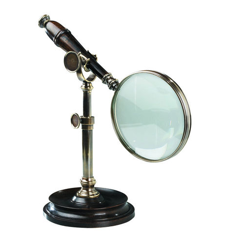 Lupa Magnifying Glass Whit Stand, Bronzed