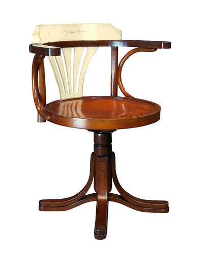 Silla, Purser's Chair, Honey & Ivory