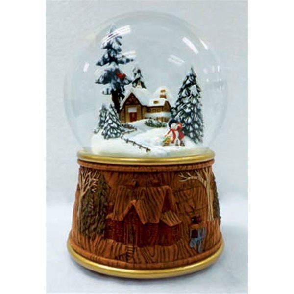 Bola de cristal ni os haciendo un mu eco de nieve - Bola nieve cristal ...